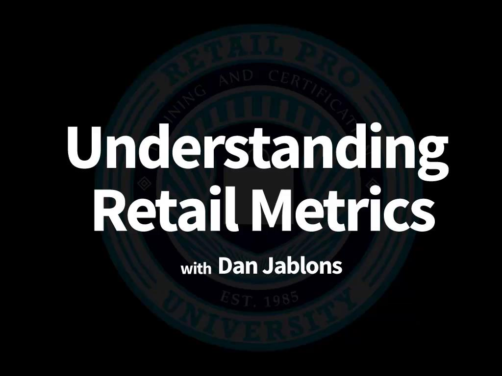 Introduction to Retail Statistics